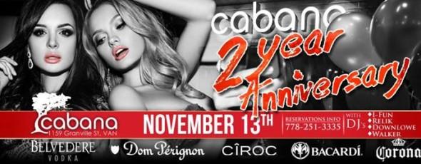 Cabana 2 Year Anniversary Party
