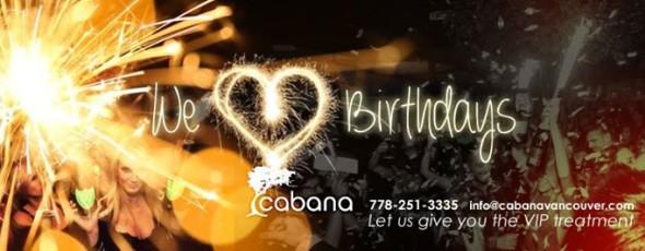 Cabana Loves Birthdays!